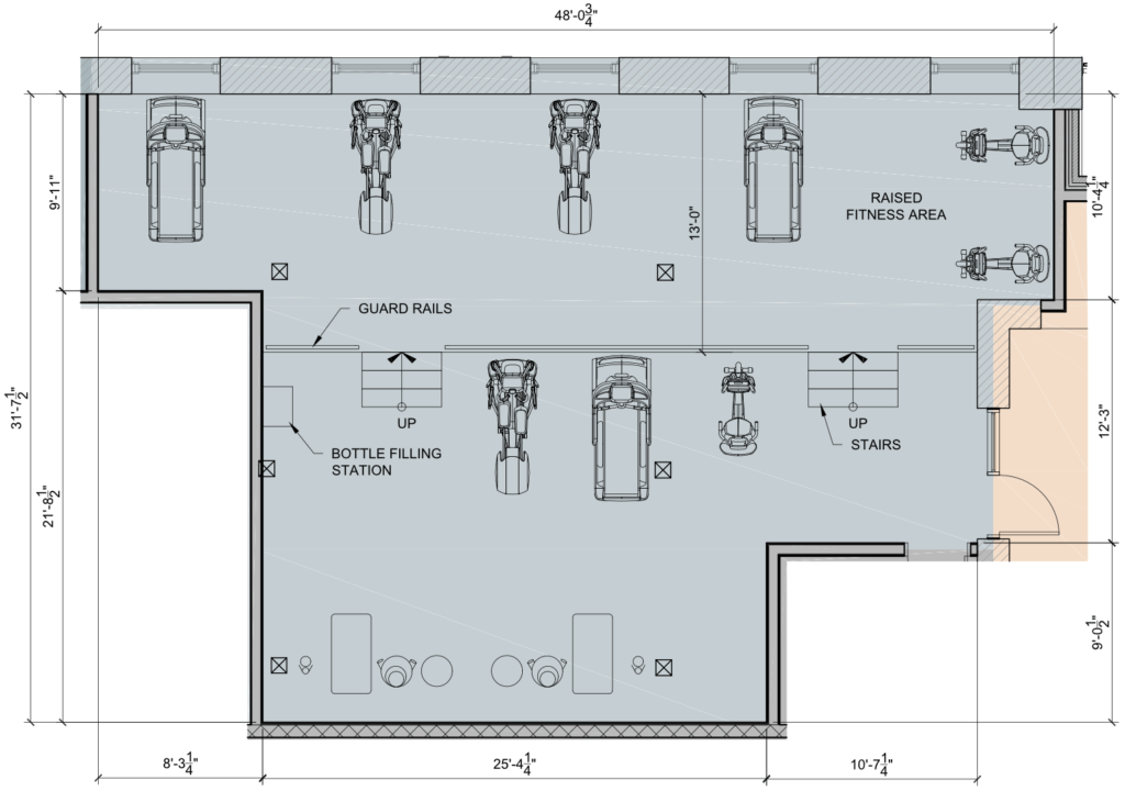 Riverdam Fitness Room Floor Plan