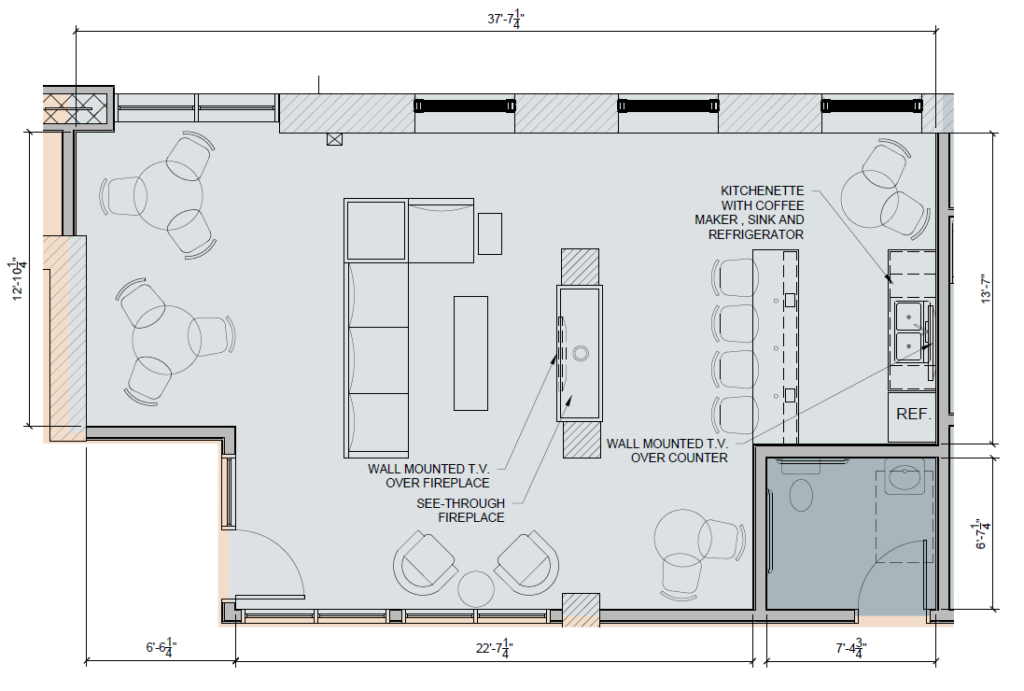 Riverdam Resident Lounge Floorplan